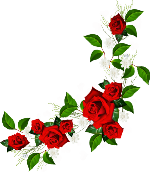 decorative_element_with_red_roses_%20white_flowers_and_hearts_with_diamonds